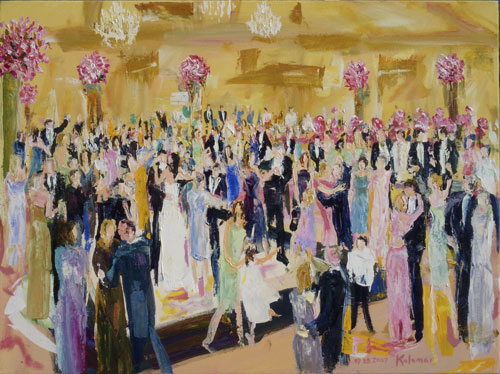 Wedding Reception Painting by Live Event Artist Greg Kalamar