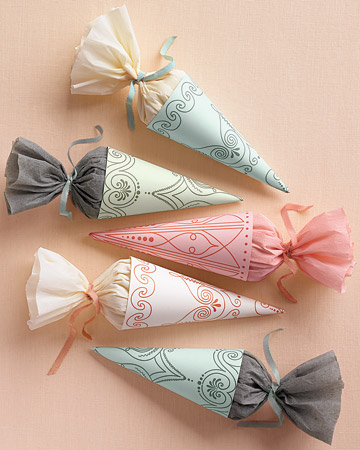 Free Wedding Templates Wedding Favor Cones