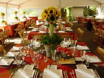 sunflowers wedding centerpieces Miller Lash House