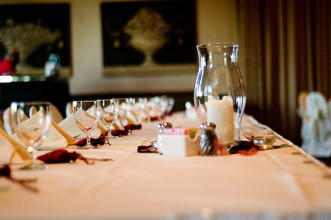 table setting country club wedding