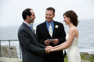 outdoor ceremony at Driftwood Inn Maine