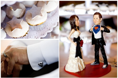 superman cake topper star cupcakes