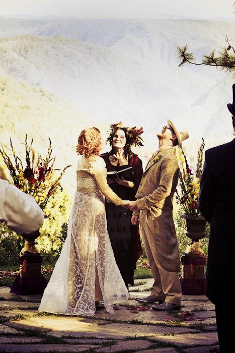 outdoor ceremony california diy wedding