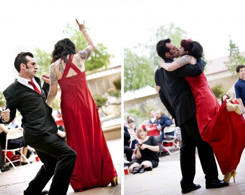 couple dancing las vegas outdoor wedding