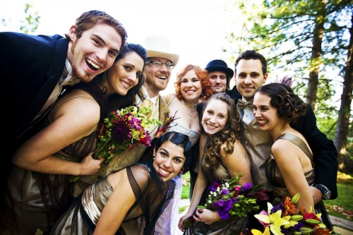 wedding party diy wedding california