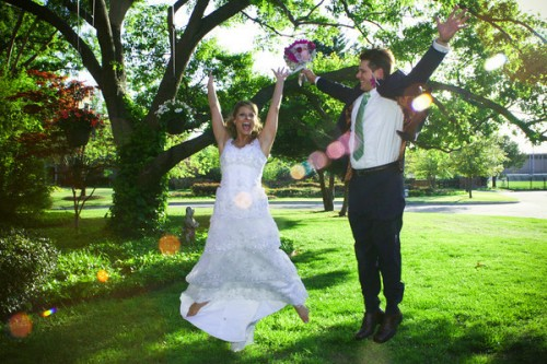texas wedding couple outdoor wedding