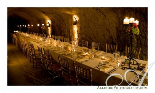 single table winery wedding