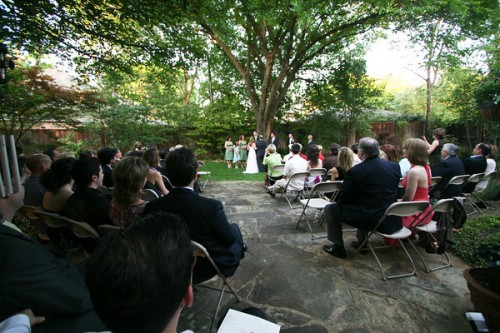 outdoor garden ceremony dallas texas wedding