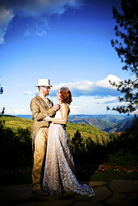 outdoors diy wedding couple california