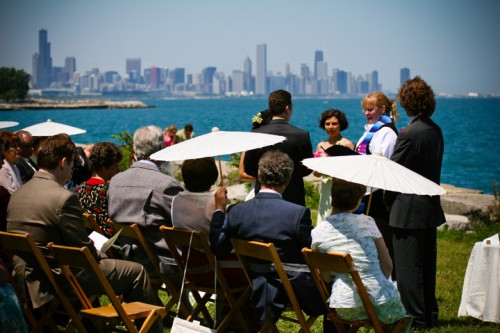 outdoor wedding chicago