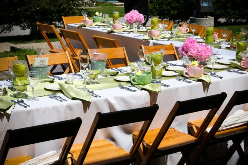 outdoor wedding chicago u-shaped table