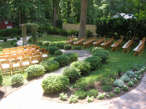 outdoor diy wedding ceremony