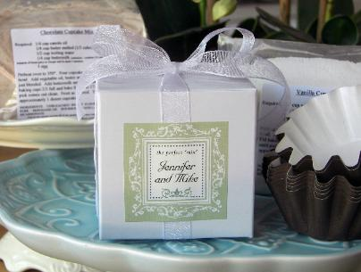 wedding favor cupcake mix