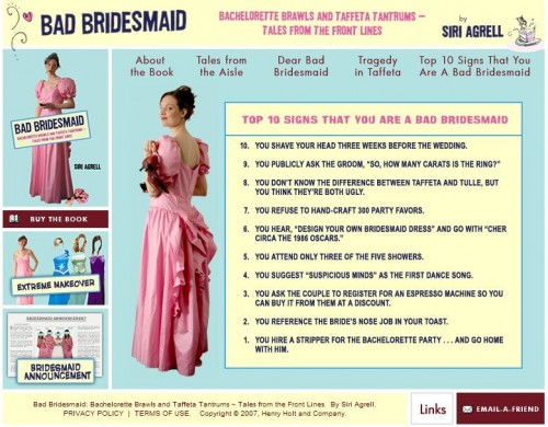 bad bridesmaid screen