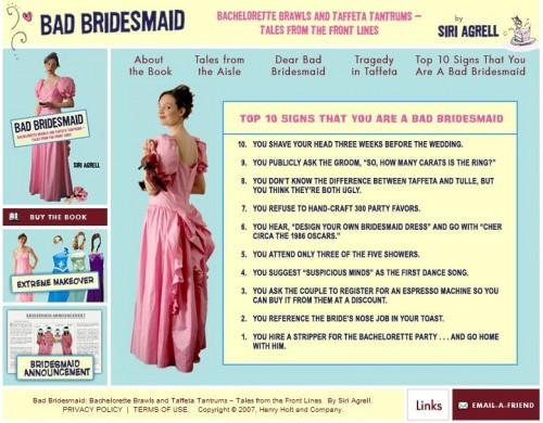 bad bridesmaid screen