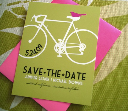 bicycle save the date