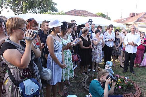 outdoor wedding ceremony in australia