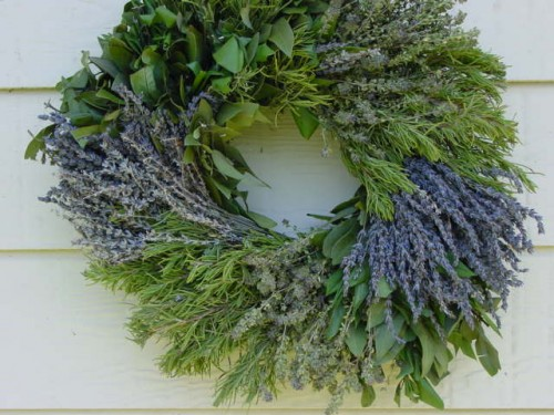 Herb wreatch with lavender