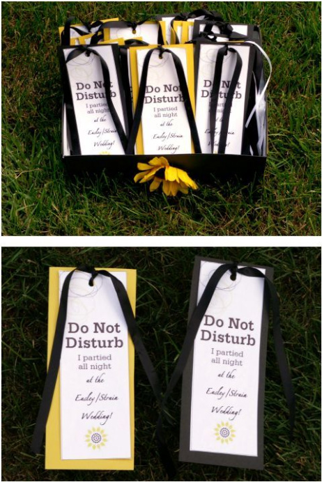 diy wedding do not disturb sign