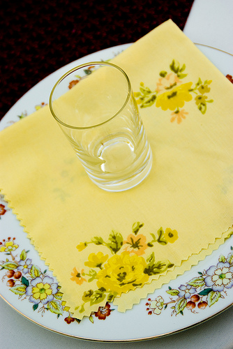 diy napkins made from vintage bedsheets