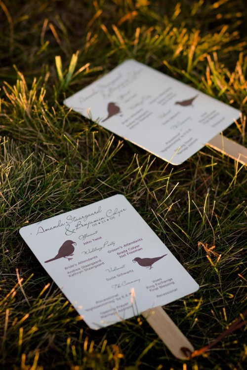 Easy DIY Wedding Programs Tutorial