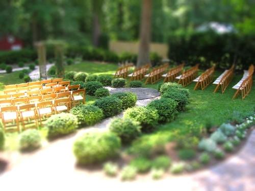 outdoor ceremony tiltshift