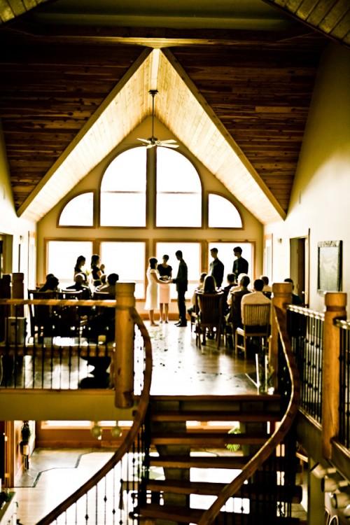indoor wedding at elk view lodge