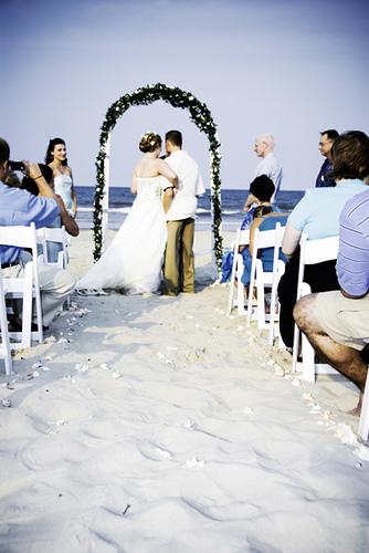 beach wedding in nc