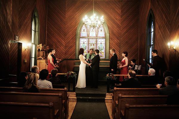 Wedding Ceremony Oaks Pioneer Church
