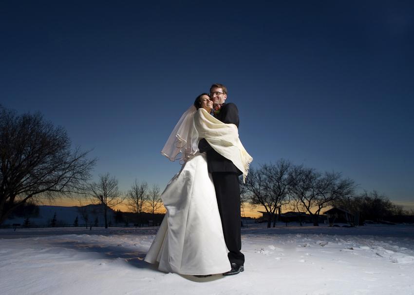 winter wedding in alberta winter bride