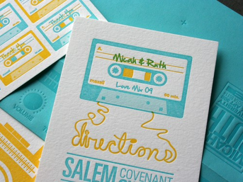 unique letterpress invitations