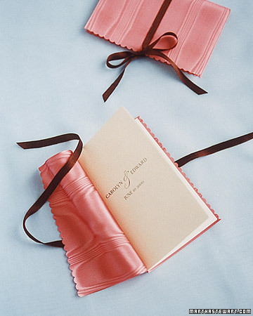 diy wedding programs taffeta