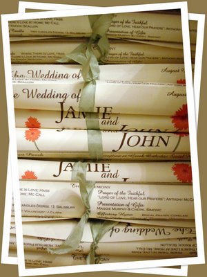 scroll diy wedding programs