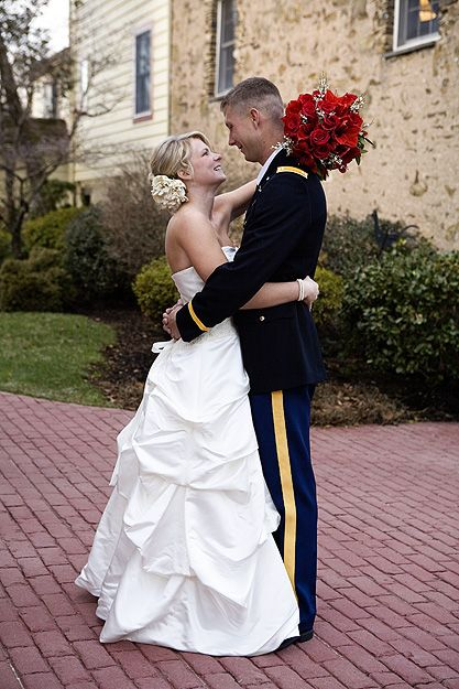 real weddings military bride
