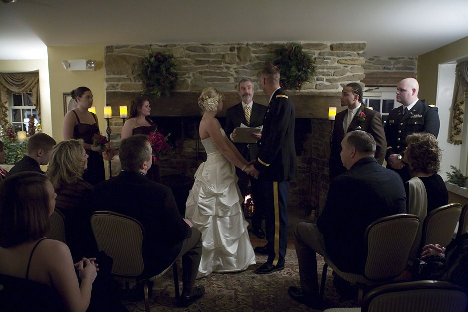 wedding ceremony joseph ambler inn