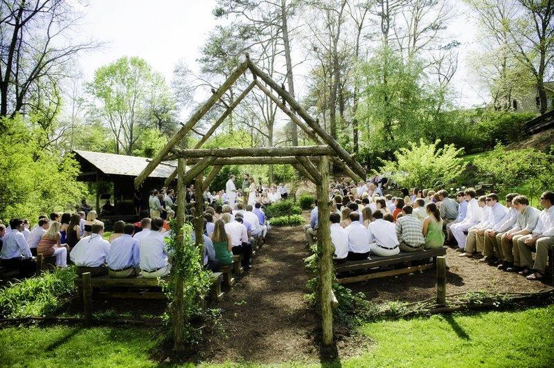 benches for outdoor ceremony