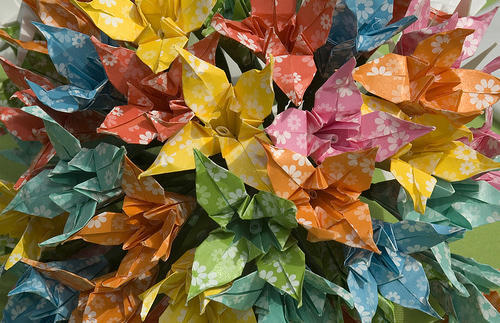 DIY paper lilies