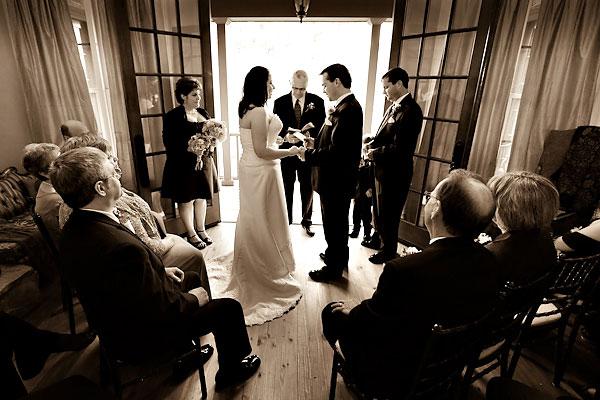 inn wedding ceremony