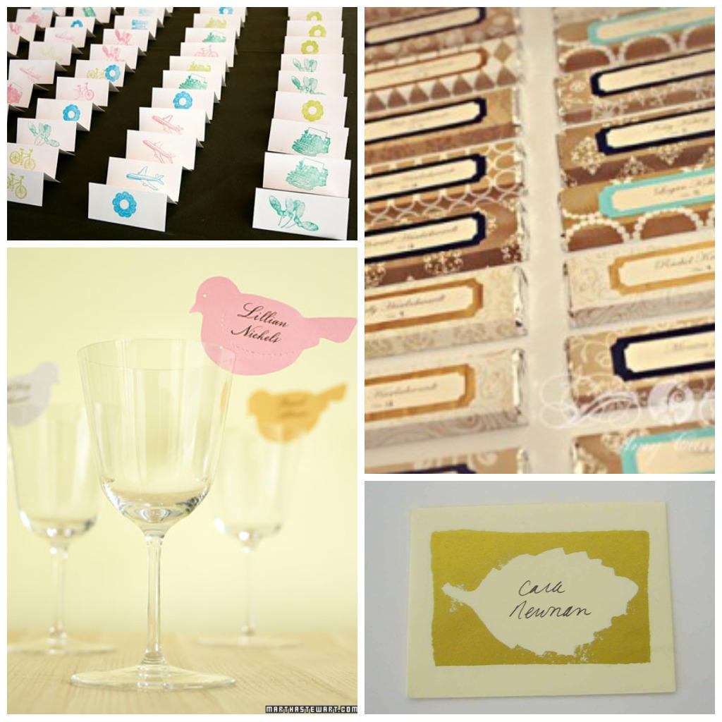 16 diy wedding place cards for Place card for wedding