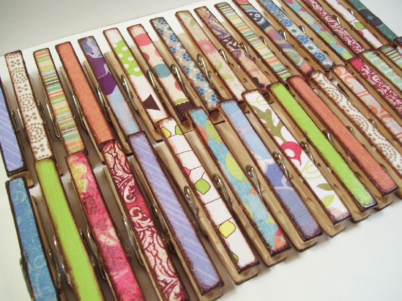 decoupage clothespin