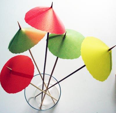DIY cocktail ubrellas