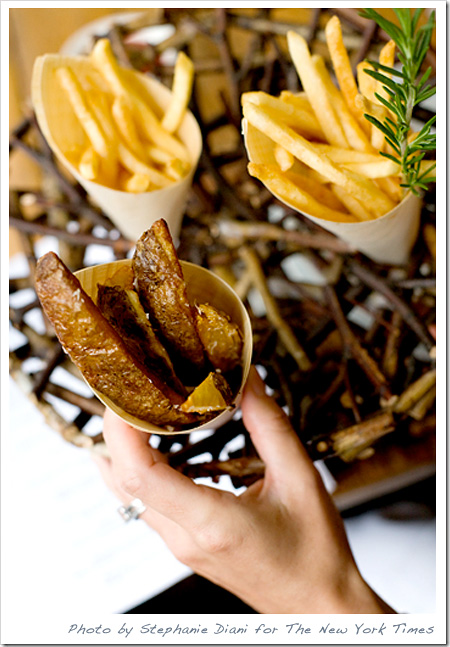 casual wedding french fries
