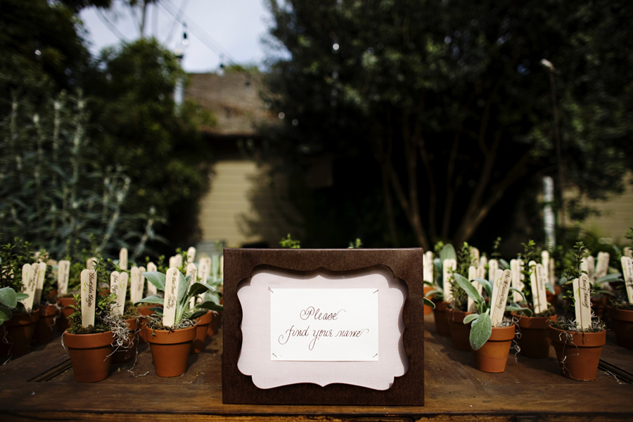 herb wedding favors