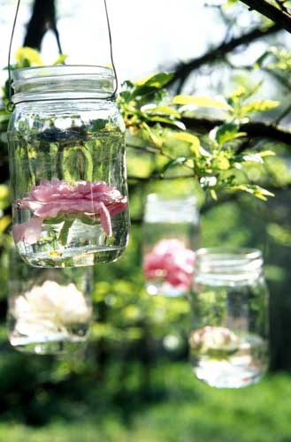 mason jar wedding vase