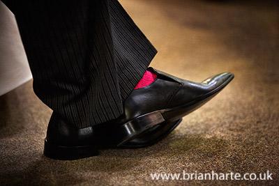 groom pink socks