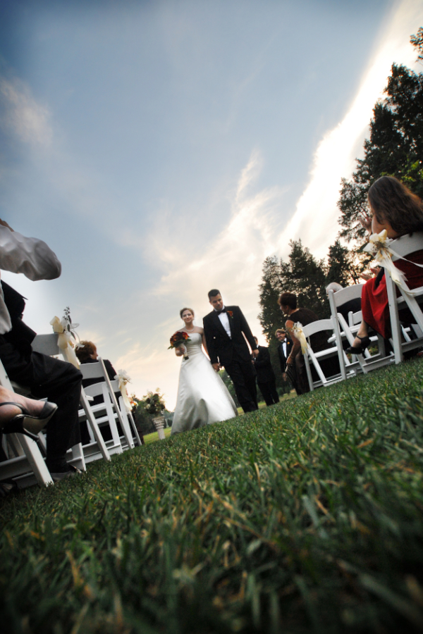 wedding ceremony at wadsworth mansion