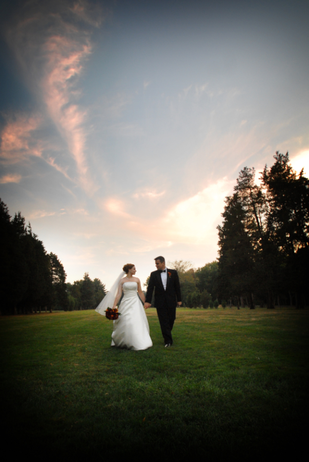 outdoor wedding at wadsworth mansion