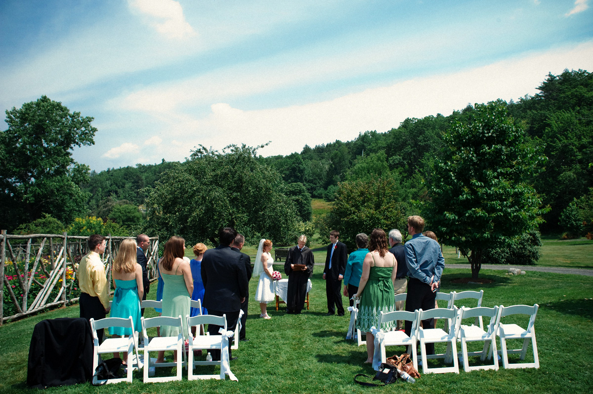 outdoor wedding ceremony in new york
