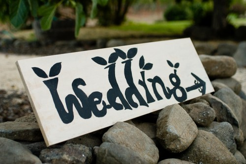 handpainted sign for wedding
