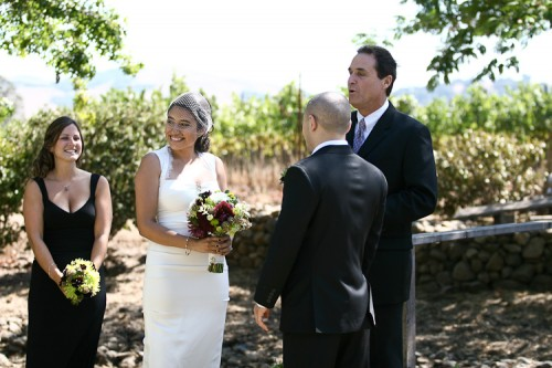 vineyard wedding in california